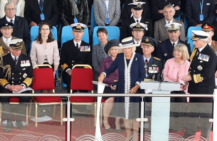 Duchess of Rothesay names HMS Price of Wales